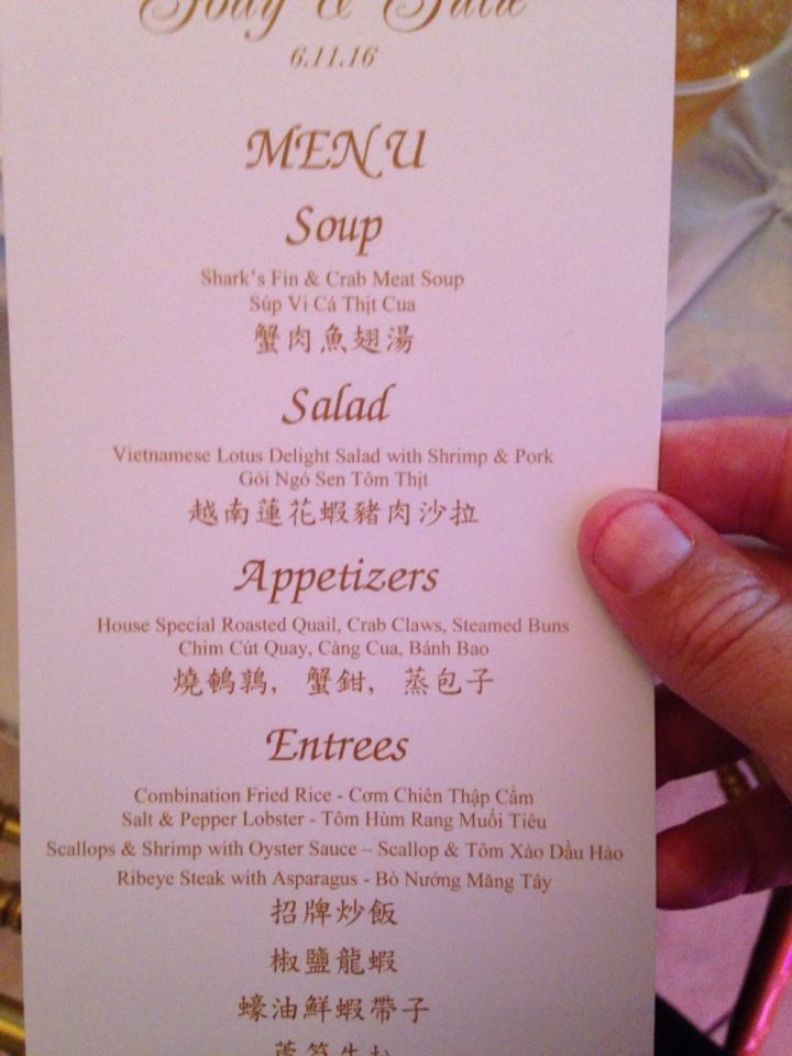 We Went To A Vietnamese Wedding Last Night And The Food Was
